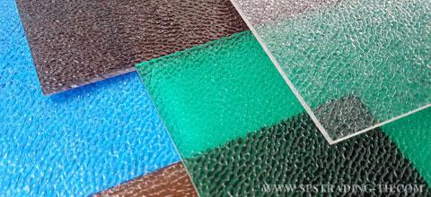 หลังคาแผ่นโพลีคาร์บอเนต แผ่นตันผิวส้มPolycarbonate Embossed Sheet 2.50 mm.