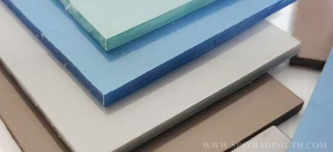 โพลีคาร์บอเนต แผ่นตันเรียบ กันความร้อน Solid sheet 3 มม.