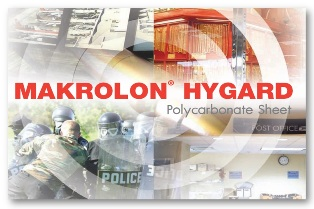 Makrolon Hygard. ผลิตภัณฑ์โพลีคาร์บอเนตนิรภัยขั้นสูงสุด